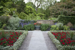 Summer Walled Garden Royalty Free Stock Photography