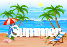 Summer wallpaper background Royalty Free Stock Photography