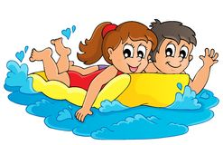 Summer water activity theme 3 Royalty Free Stock Photo