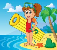 Summer water activity theme 6 Stock Image