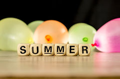 Summer with water ballons Stock Images