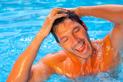 Summer water man Stock Photo