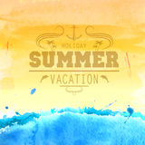 Summer watercolor background. Artistic painting Stock Photos