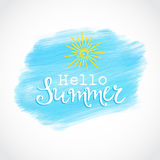 Summer watercolor background Royalty Free Stock Images