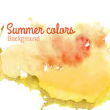 Summer watercolor background Stock Image