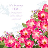 Summer watercolor exotic flowers. Vector beauty invitation card background Stock Images