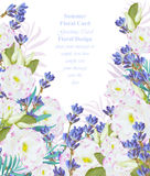 Summer watercolor flowers. Vector beauty invitation card background Stock Image