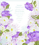 Summer watercolor flowers. Vector beauty invitation card background Stock Photo