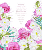 Summer watercolor flowers. Vector beauty invitation card background Royalty Free Stock Photography