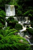 Summer waterfall. One of many beutiful cascades in Giant mountains stock photos