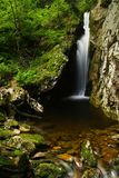 Summer waterfall. One of many beutiful cascades in Giant mountains stock photo