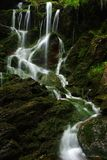 Summer waterfall. One of many beutiful cascades in Giant mountains royalty free stock photo