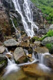 Summer waterfall. In the Giant mountains (Czech Republic stock photo