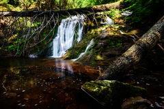 Summer Waterfall. Waterfall in Rhodope mountain & x28;Bulgaria& x29 Stock Photos