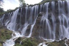 Summer waterfalls of JiuZhaiGou Stock Image