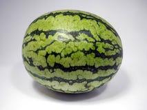 Summer Watermelon on Display. Fresh Organic Summer Watermelon sideways on Display Royalty Free Stock Photography