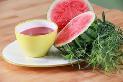 Summer watermelon soup with tarragon Stock Photography