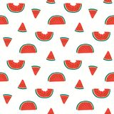 Summer watermelons seamless pattern stock images