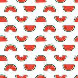 Summer watermelons seamless pattern royalty free stock photo
