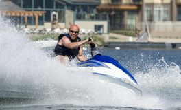 Summer watersports. Action photo of man on seado Royalty Free Stock Photos