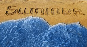 Summer and wave Royalty Free Stock Photo