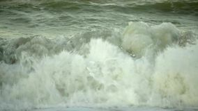 Summer waves by the sea shores. At the Black Sea in Romania stock footage