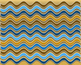Summer wavy pattern Stock Photos