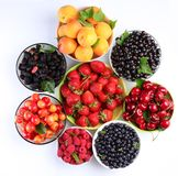 Summer wealth. Variety of berries. Stock Image