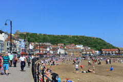 Summer weather in Scarborough Royalty Free Stock Photo