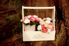 Summer wedding flowers decor Stock Images