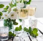Summer wedding table decor Royalty Free Stock Photo