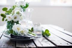 Summer wedding table decoration Royalty Free Stock Image