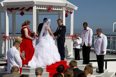Summer Weddings Aboard Ship Stock Photos