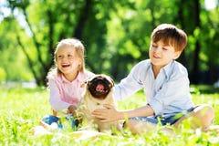 Summer weekend in park Stock Image
