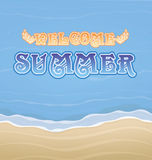 Summer. Welcome to summer background Royalty Free Stock Photos