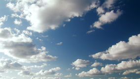 Summer White Clouds stock footage