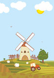 Summer Windmill Royalty Free Stock Photo