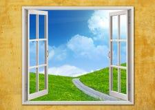 Summer window vector illustration