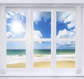 Summer Window Royalty Free Stock Photos