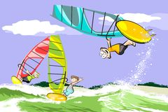 Summer and windsurfing Stock Photography