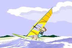 Summer and windsurfing Royalty Free Stock Images