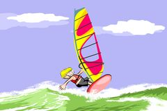 Summer and windsurfing Royalty Free Stock Photo