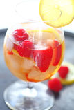 Summer wine drink with fresh fruit Royalty Free Stock Photos