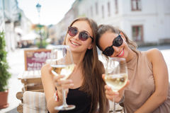 Summer wine fun. royalty free stock images