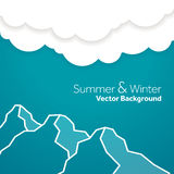 Summer and winter mountain  template Stock Photography