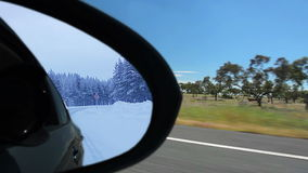 Summer and winter. Reflection stock footage