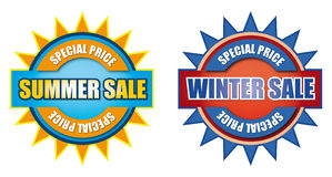 Summer and winter sale sign Stock Images