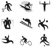 Sports Icon Set 2 (black) Royalty Free Stock Image