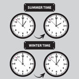Summer and winter time shifting icons Royalty Free Stock Photography