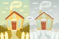 Summer and winter Royalty Free Stock Photos